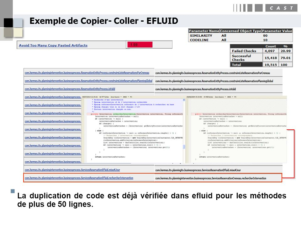 Exemple de Copier- Coller - EFLUID