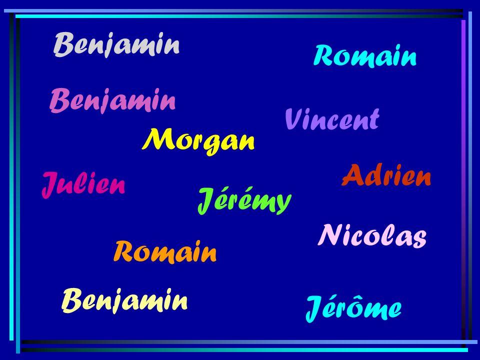 Benjamin Romain Benjamin Vincent Morgan Adrien Julien Jérémy Nicolas Romain Benjamin Jérôme