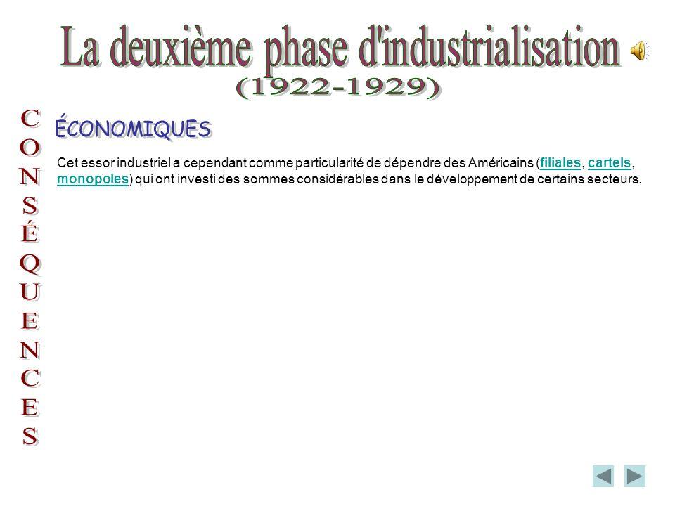 La deuxième phase d industrialisation