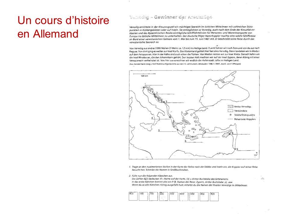 Un cours d'histoire en Allemand
