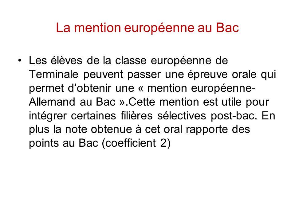 La mention européenne au Bac