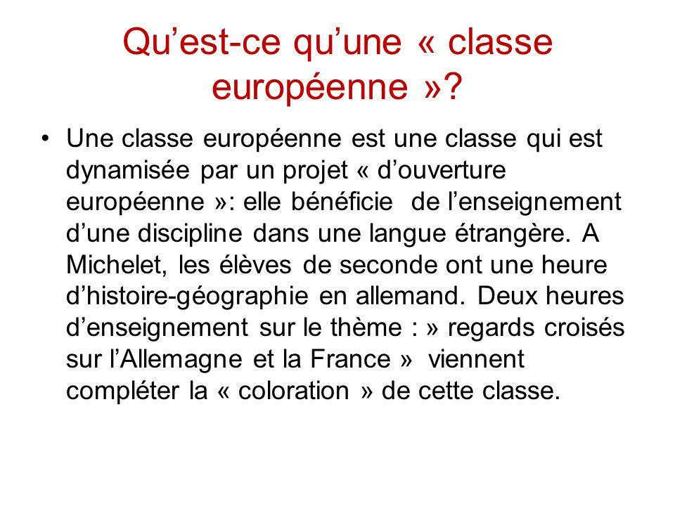 Qu'est-ce qu'une « classe européenne »