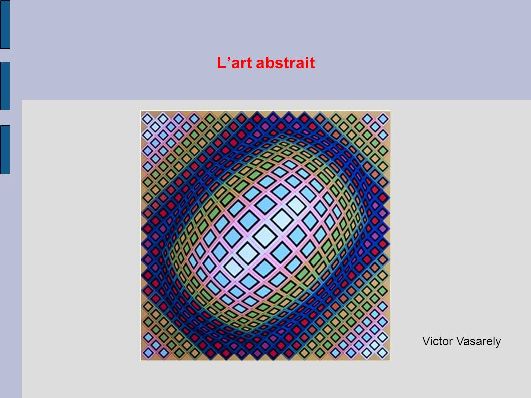 L'art abstrait Victor Vasarely