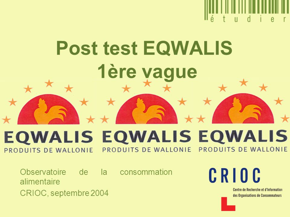 Post test EQWALIS 1ère vague