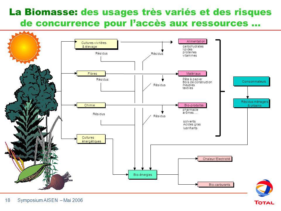 La Biomasse: des usages très variés et des risques de concurrence pour l'accès aux ressources …