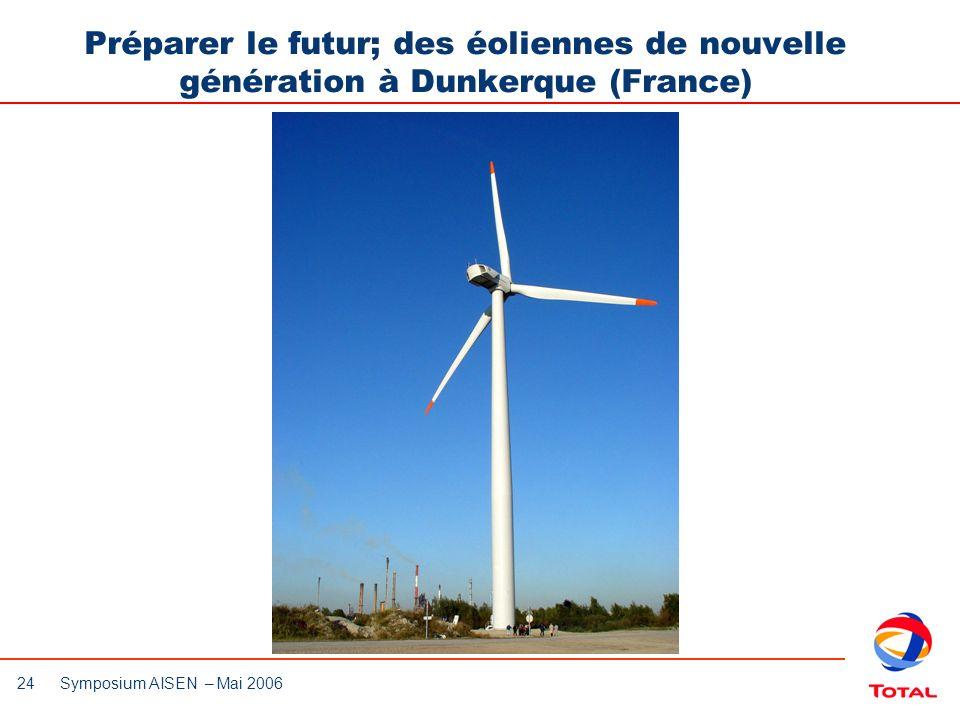 Préparer le futur; des éoliennes de nouvelle génération à Dunkerque (France)
