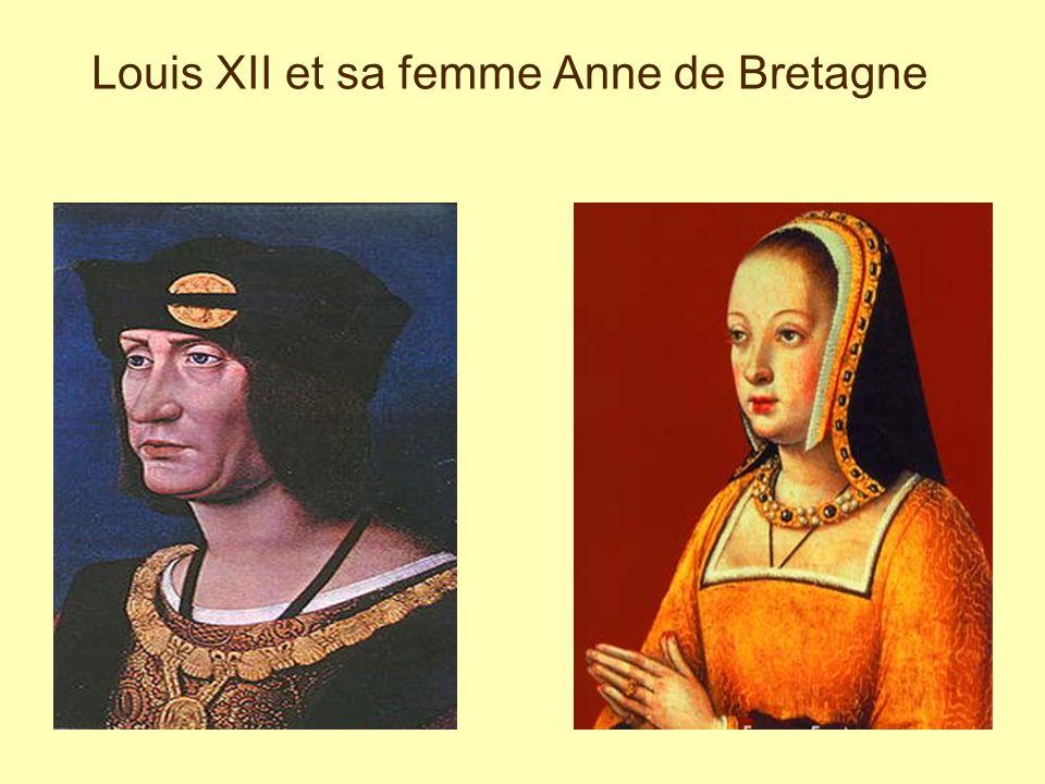 Louis XII et sa femme Anne de Bretagne