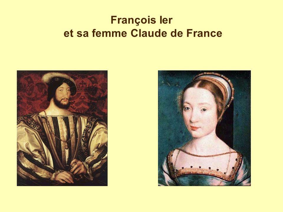 François Ier et sa femme Claude de France
