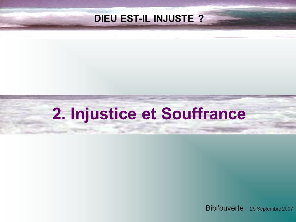 2. Injustice et Souffrance