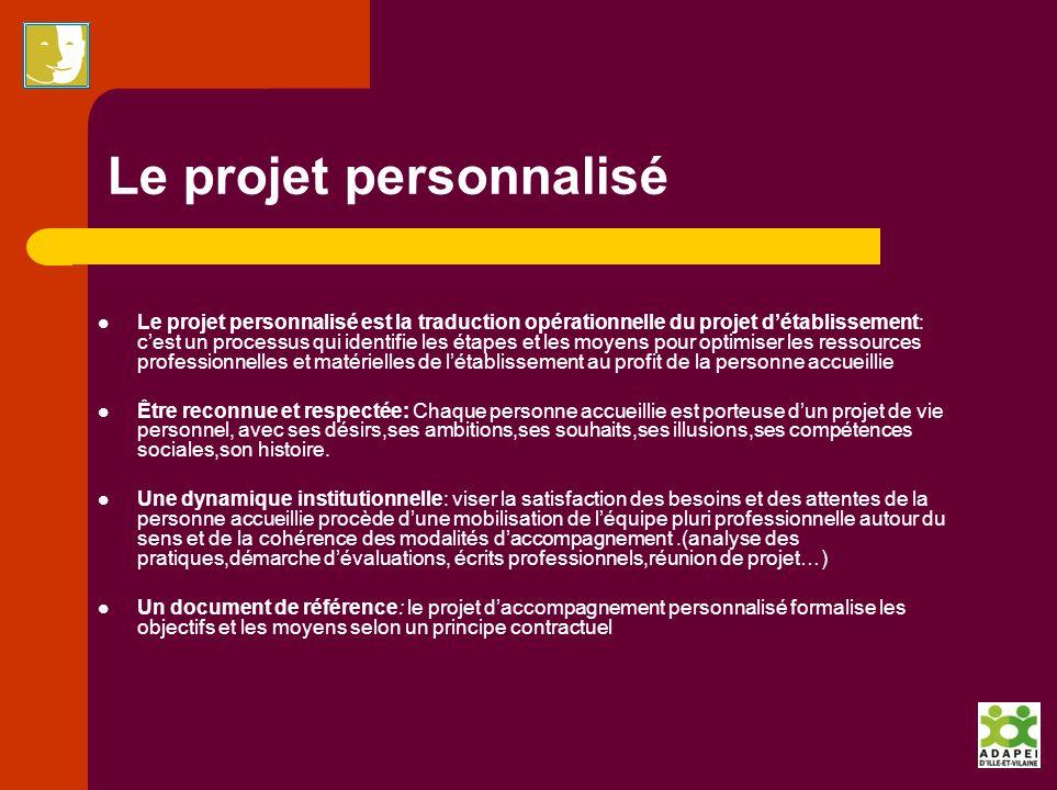 Le projet personnalisé