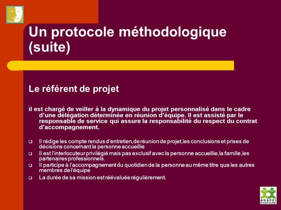 Un protocole méthodologique (suite)