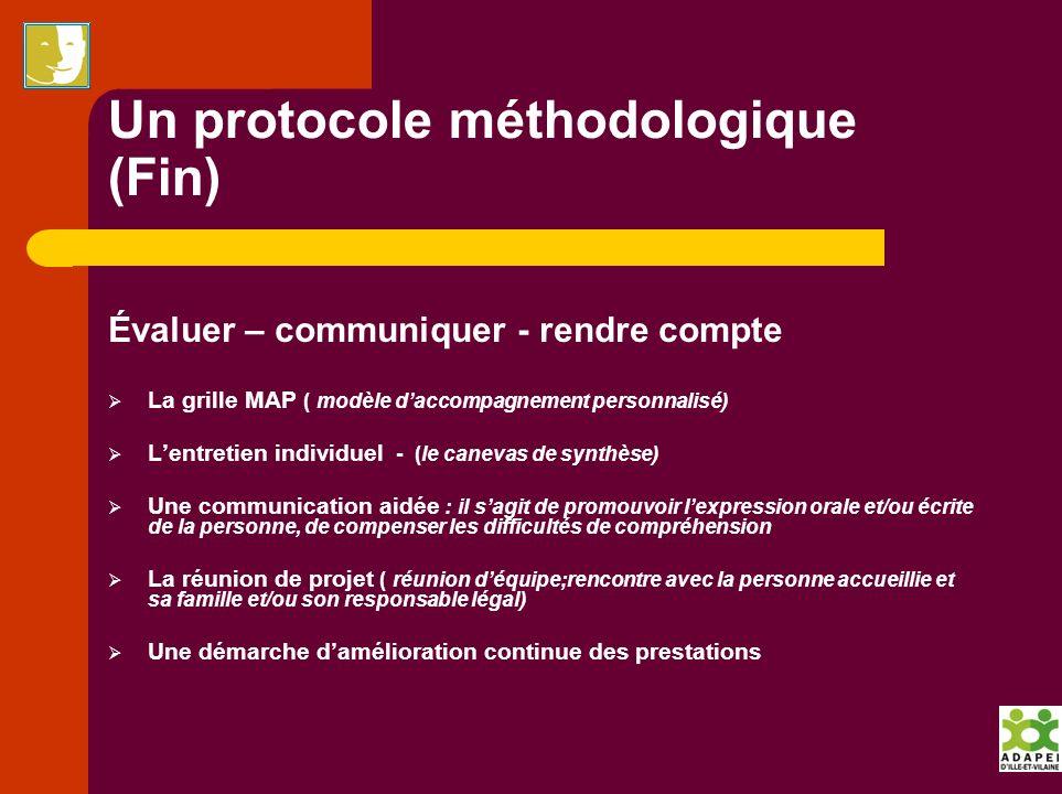 Un protocole méthodologique (Fin)