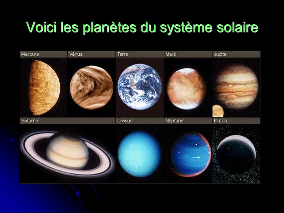 Voici les planètes du système solaire