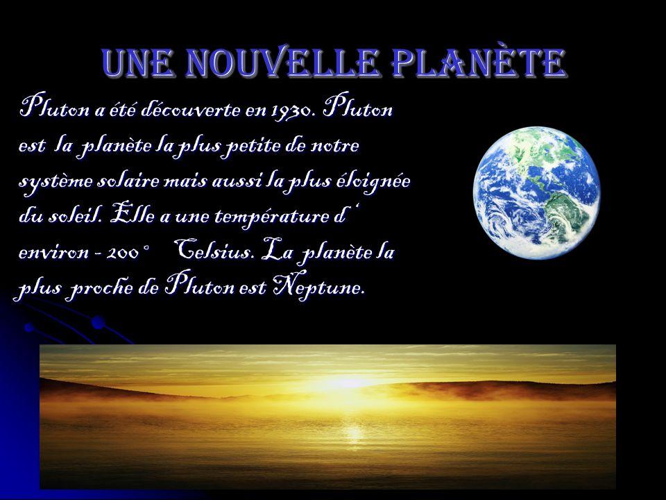 Une nouvelle planète