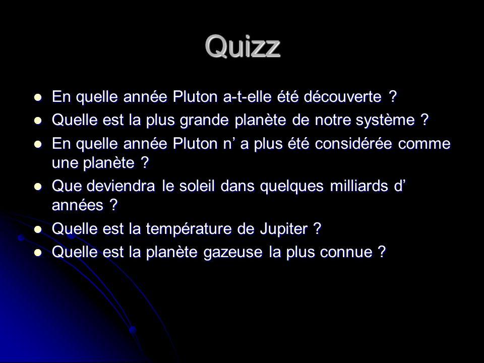 Quizz En quelle année Pluton a-t-elle été découverte