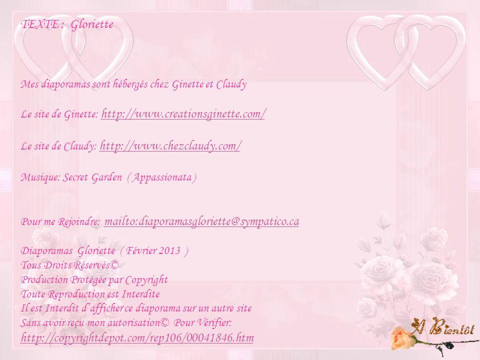 TEXTE : Gloriette http://copyrightdepot.com/rep106/00041846.htm