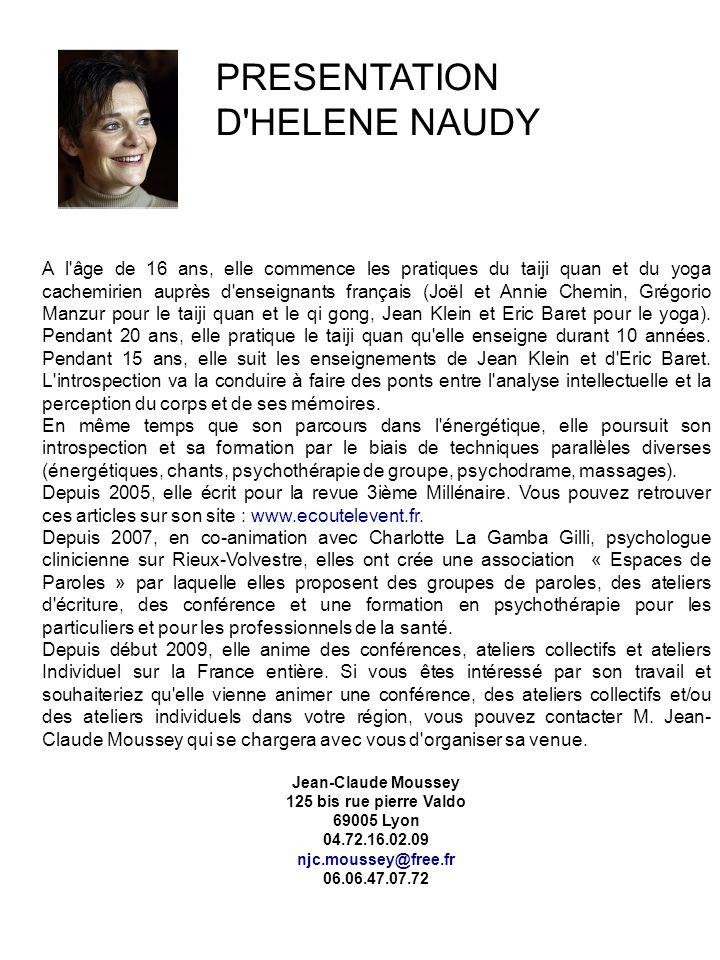 PRESENTATION D HELENE NAUDY
