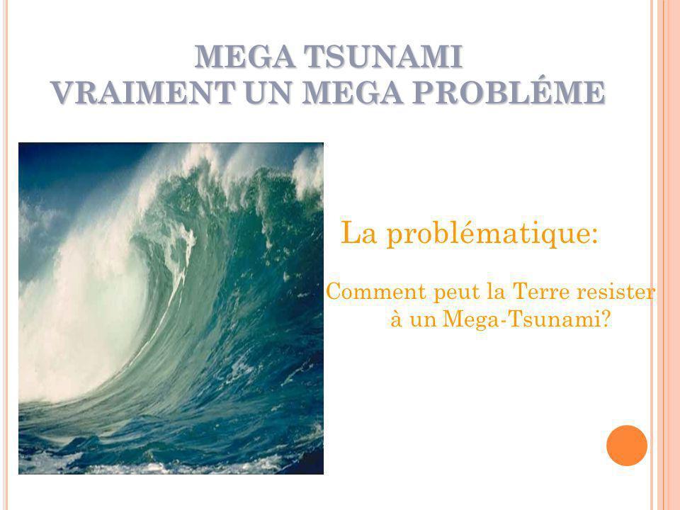 MEGA TSUNAMI VRAIMENT UN MEGA PROBLÉME