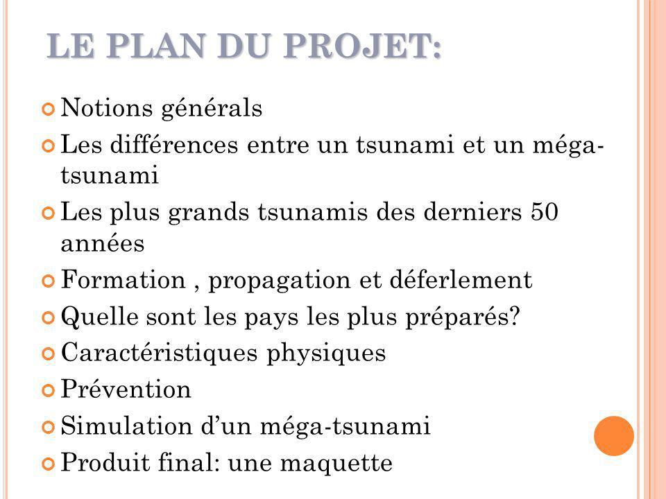 LE PLAN DU PROJET: Notions générals