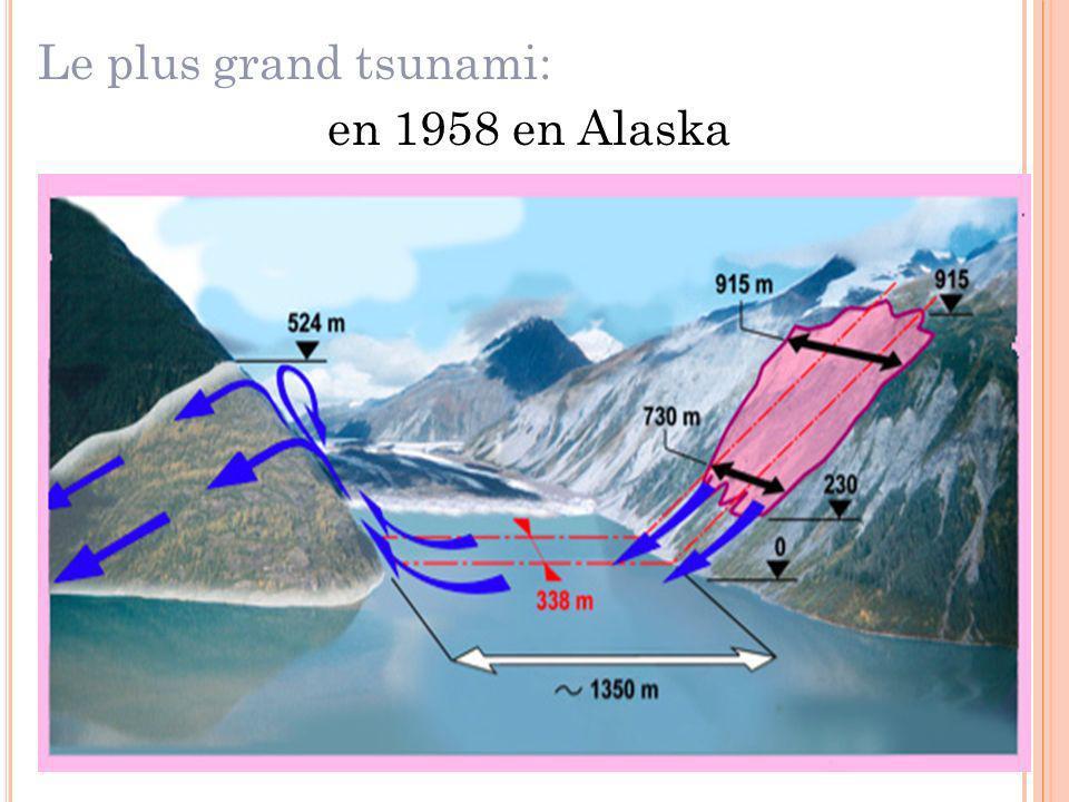 Le plus grand tsunami: en 1958 en Alaska