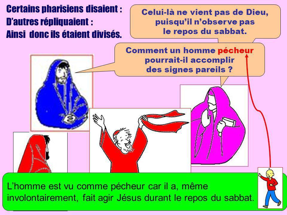 Certains pharisiens disaient : D'autres répliquaient :