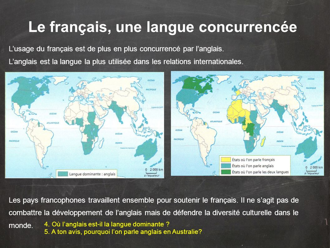 Le français, une langue concurrencée