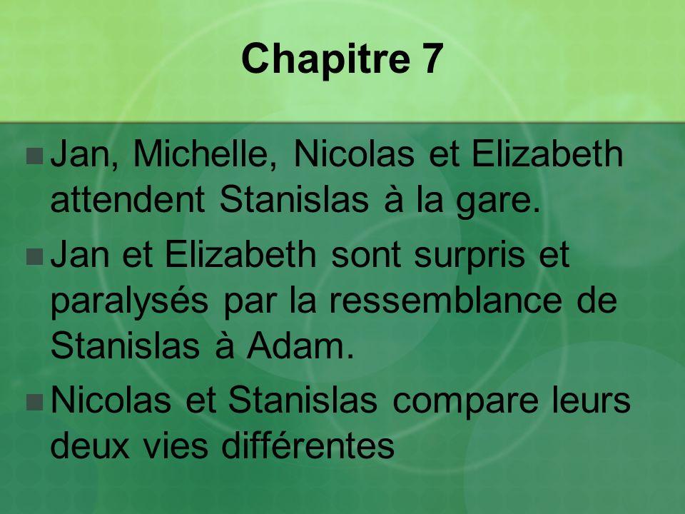 Chapitre 7 Jan, Michelle, Nicolas et Elizabeth attendent Stanislas à la gare.