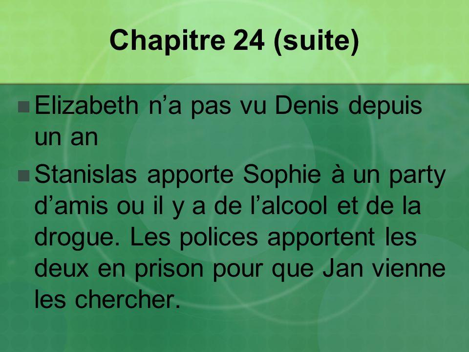 Chapitre 24 (suite) Elizabeth n'a pas vu Denis depuis un an