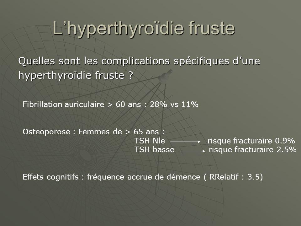 L'hyperthyroïdie fruste