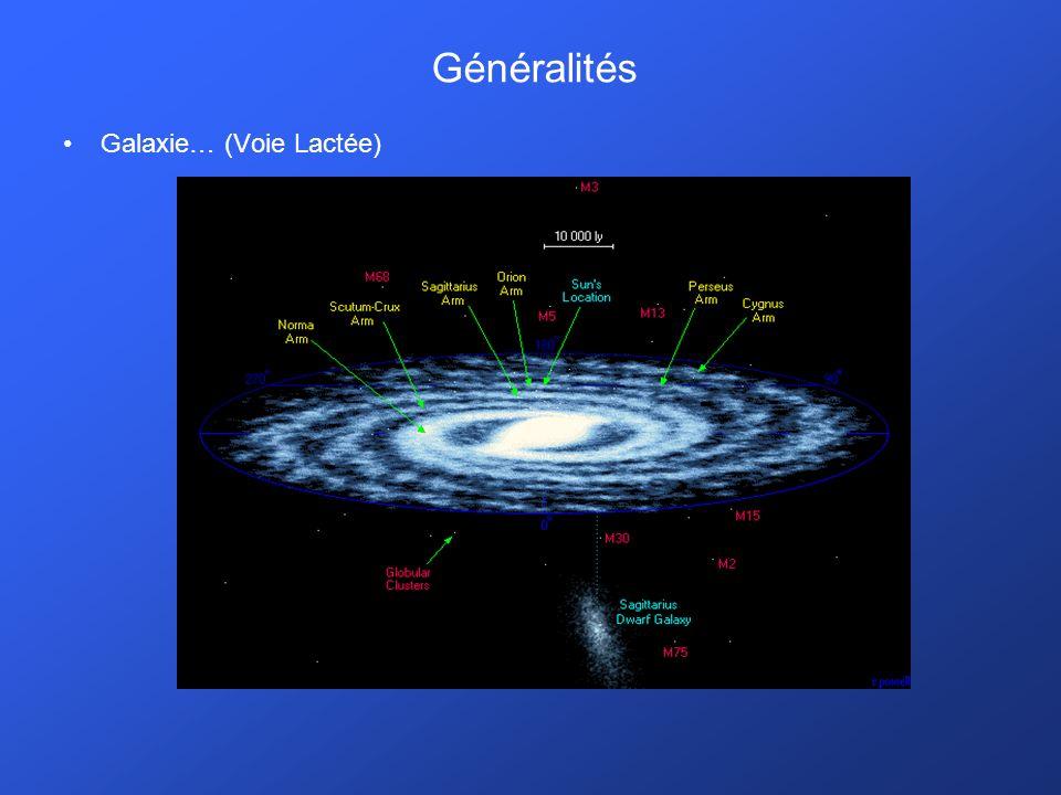 Généralités Galaxie… (Voie Lactée)