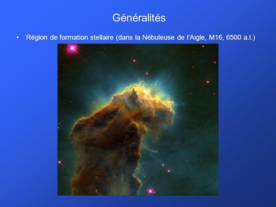 Généralités Région de formation stellaire (dans la Nébuleuse de l'Aigle, M16, 6500 a.l.)