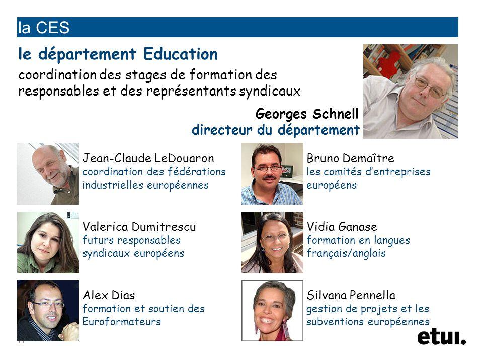 la CES le département Education