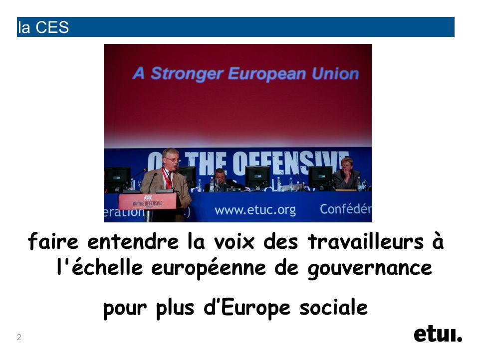 pour plus d'Europe sociale