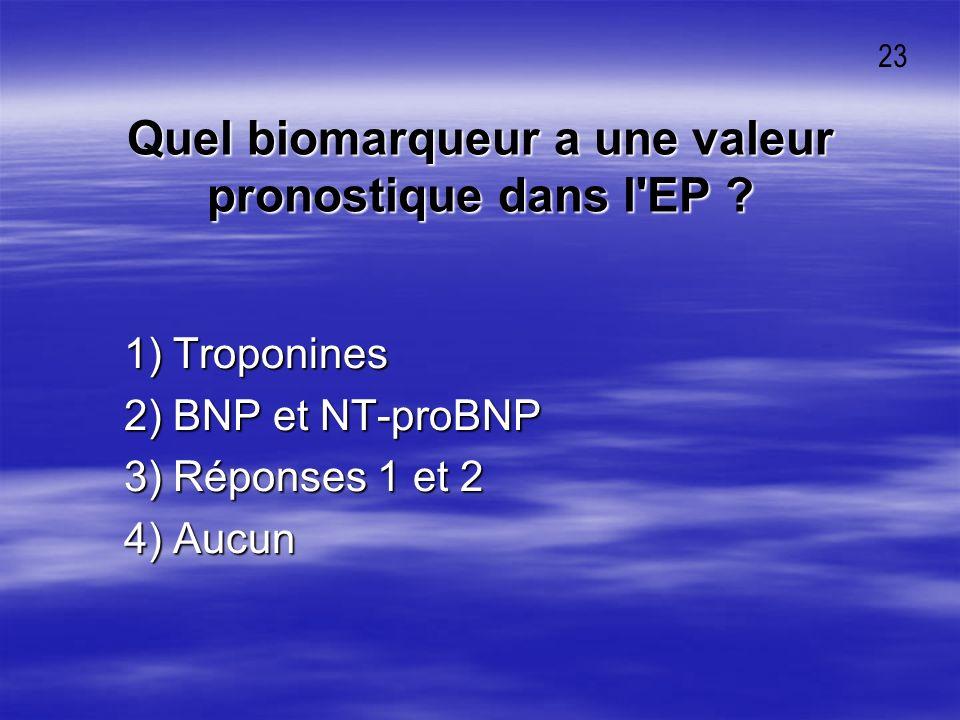Quel biomarqueur a une valeur pronostique dans l EP