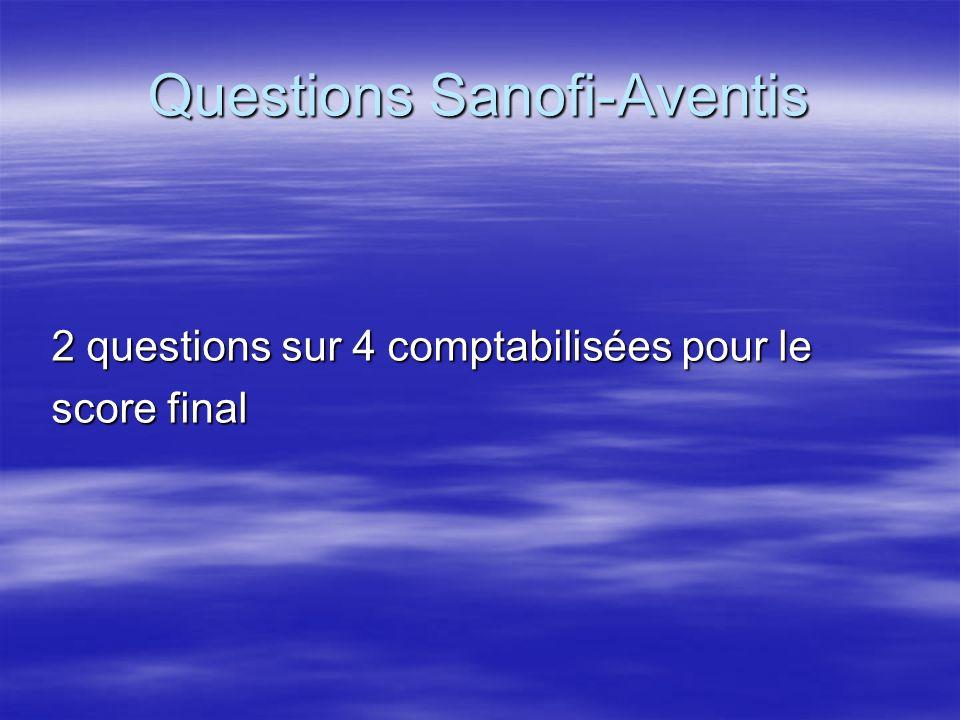 Questions Sanofi-Aventis