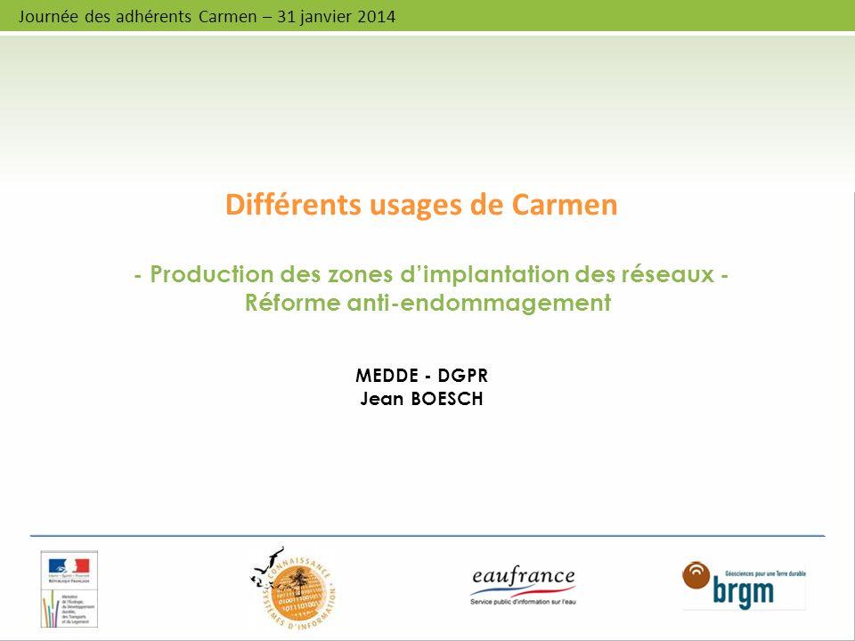 Différents usages de Carmen