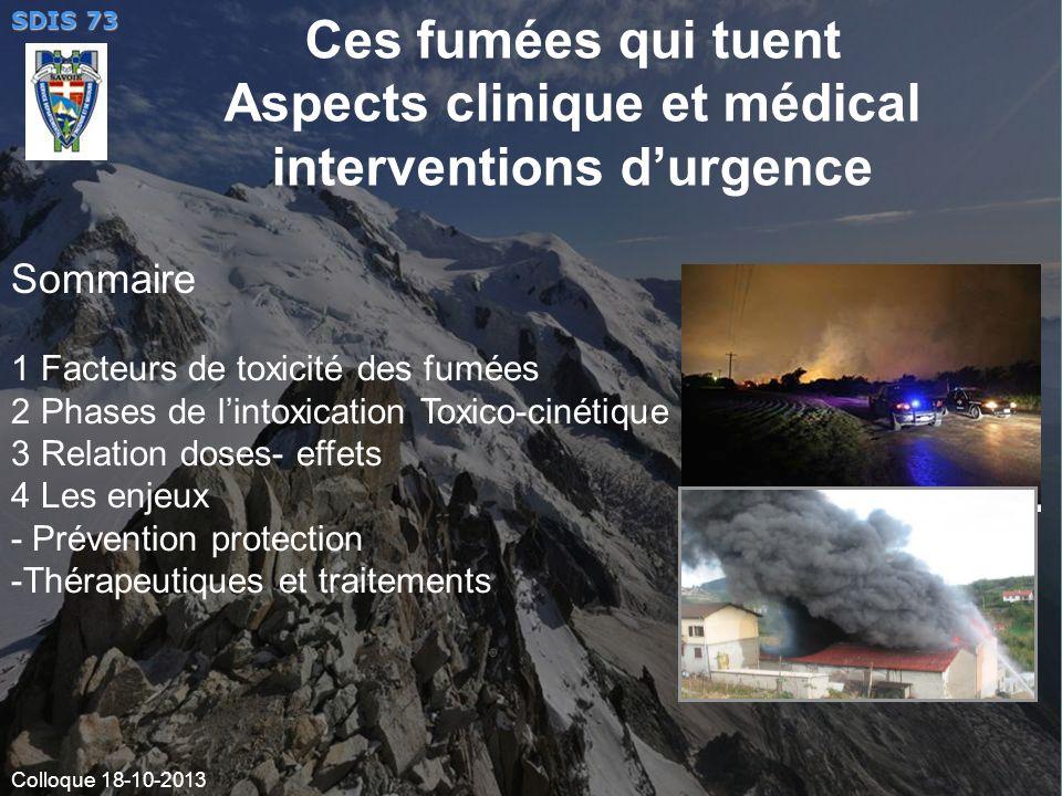 Ces fumées qui tuent Aspects clinique et médical interventions d'urgence