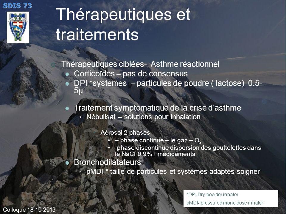 Thérapeutiques et traitements