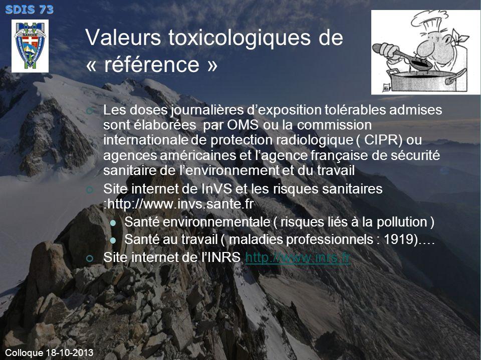 Valeurs toxicologiques de « référence »
