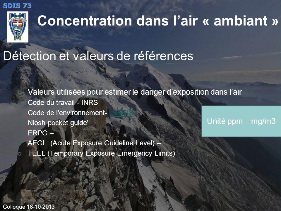 Détection et valeurs de références