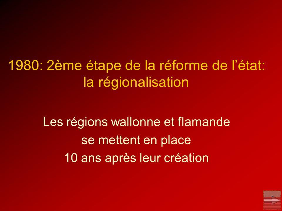 1980: 2ème étape de la réforme de l'état: la régionalisation