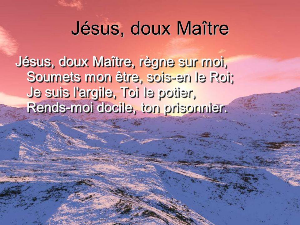 Jésus, doux Maître