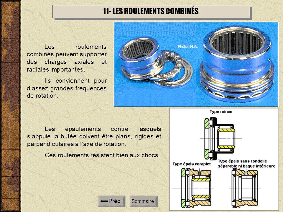 11- LES ROULEMENTS COMBINÉS