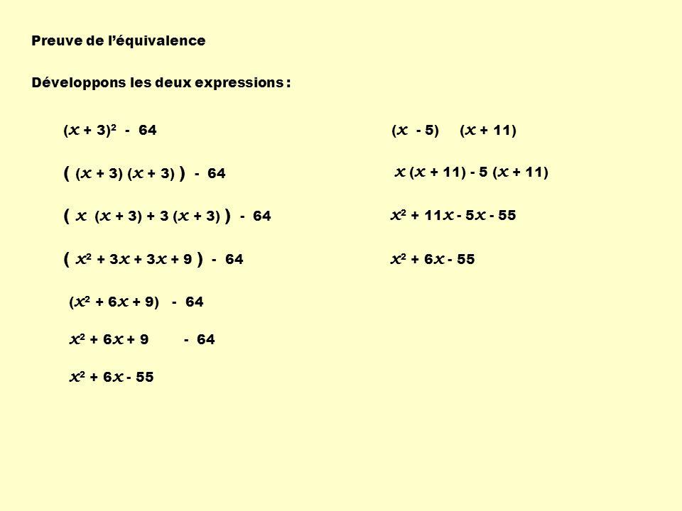 ( (x + 3) (x + 3) ) - 64 ( x (x + 3) + 3 (x + 3) ) - 64
