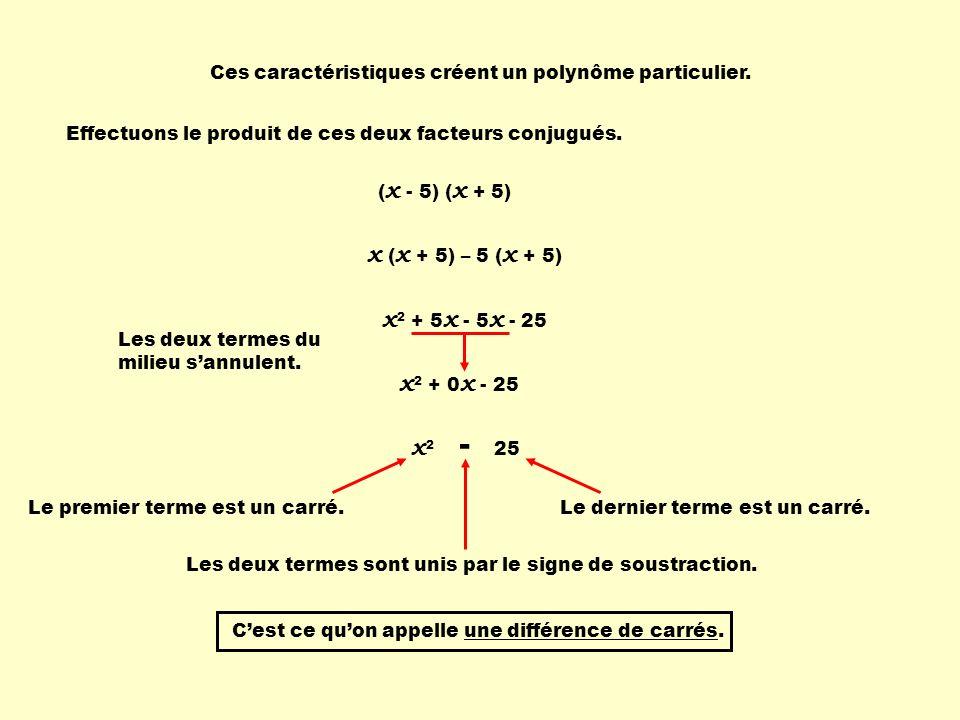 x (x + 5) – 5 (x + 5) x2 + 5x - 5x - 25 x2 + 0x - 25 x2 - 25