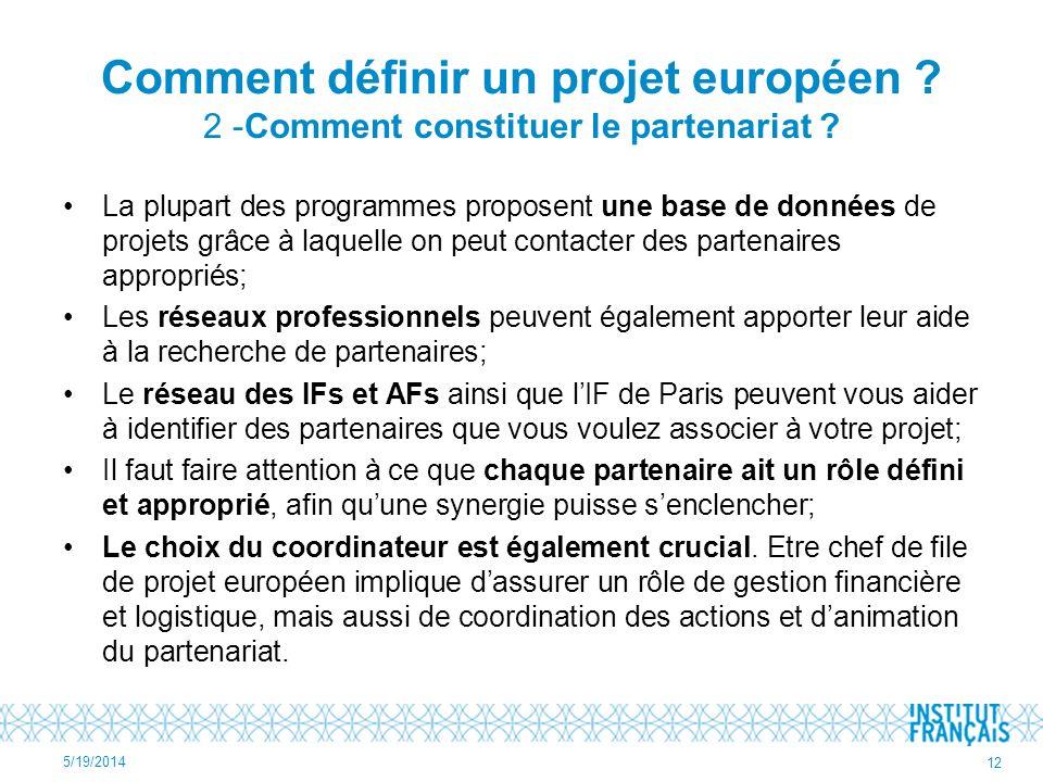 Comment définir un projet européen