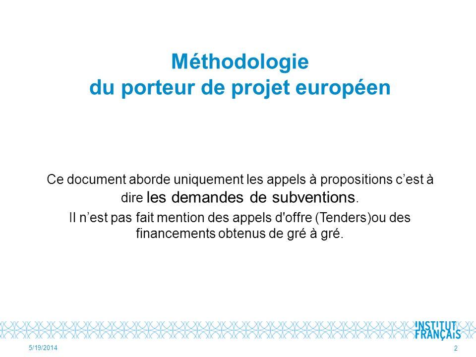 Méthodologie du porteur de projet européen