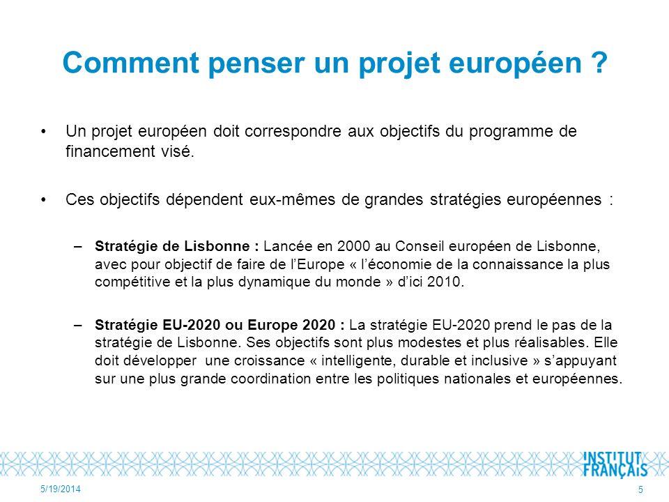 Comment penser un projet européen
