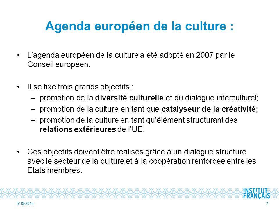 Agenda européen de la culture :