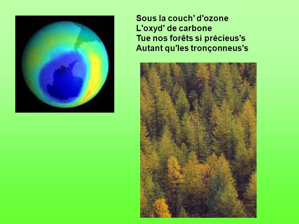 Sous la couch d ozone L oxyd de carbone